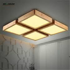 new creative oak modern led ceiling lights for living room bedroom lampara techo wooden led ceiling lamp fixtures lumina