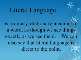 literal language literal and figurative language