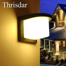 Stupendous modern exterior lighting Door Waterproof Led Wall Lamps Outdoor Aluminum Garden Porch Lamp Modern Villa Fence Balcony Lights Porch Wall Lights Secappco
