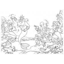 Disegno Di La Sirenetta Disney Da Colorare Per Bambini