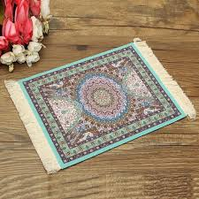 28x18cm blue persian style mini woven rug mouse pad carpet mousemat with