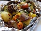 Телятина с овощами рецепт в духовке 92