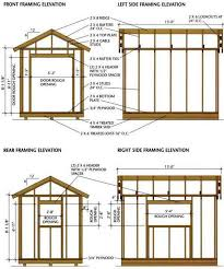 Small Picture shed blueprints 8x12 Framing Elevation Front and Back A home for