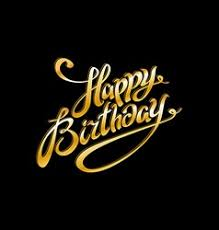 Birthday Banner Gold Black Vector Images Over 1 300