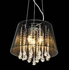 shaded crystal drop chandelier