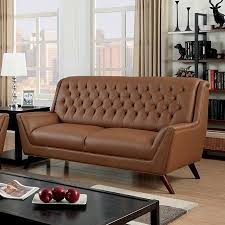 furniture of america sofa. furniture of america, camel bonded leather button tufted sofa., cm6035cl-sf furniture of america sofa o