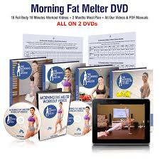 morning fat melter workout dvd for women great weight loss program for women who want to lose 30 pounds 18 workout videos 60 days meal plan on 2