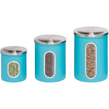 Kitchen Storage Canisters Honey Can Do 3 Piece Nested Metal Food Storage Canister Set