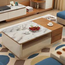 chapin furniture modern fashion minimalist living room coffee table marble stretch rectangular tea table changing ideas