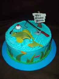 Gone Fishing Cake Images Theme Birthday Best Cakes Ideas On Fish