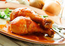 Курица в меде с яблоками в духовке рецепт