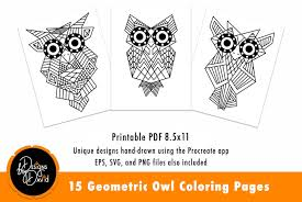 Don't miss our printable independence day / 4th of july coloring book. Geometric Owl Coloring Pages Printable Pdf 561576 Coloring Pages Design Bundles
