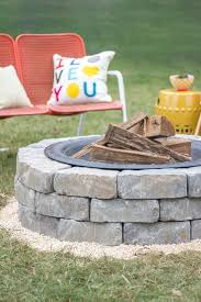 diy fireplace ideas fire pit with landscape wall stones do it yourself firepit projects