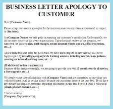 Customer Apology Letter Examples Business Letter Apology Letter To Customer And Supplierbusiness 25