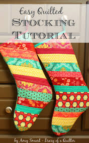 Christmas Stocking Tutorial - Diary of a Quilter - a quilt blog &  Adamdwight.com