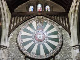 the round table is 18 feet in diameter weighs 1200 kg and was originally made of 121 separate pieces of english oak for approximately the first 60 years
