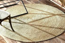 image of round jute rug large cleaners popular in oriental cultures 9x12 blue