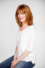 um length ginger haircut for older women