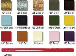 sealing wax sold in the traditional presentation of 10 sticks of one color