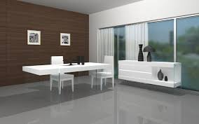 modern wood dining room sets. White Modern Dining Table With Glass Base Chairs And Server In Beautiful Room Wood Sets
