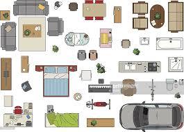 floor plan furniture vector. Floor Plan, Furniture : Vector Art Plan