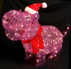 Christmas Decorations Sears Trim A Homer 36in Lighted Christmas Acrylic Purple Hippo