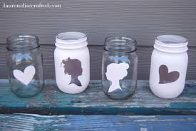 How To Decorate A Jar Silhouette Mason Jars Fab Tutorial Milomade 7