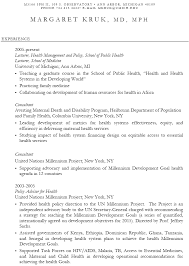 Public Health Resume Objective Sample Resumes Healthcare Resume Trainer Resume educationalresumeor 86