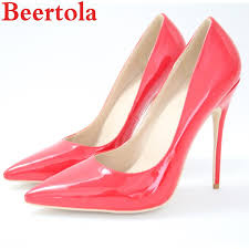 designer dress shoes beertola woman sti red patent leather 12cm super high heels pumps pointed toe wedding party banquet shallow mens shoes mens