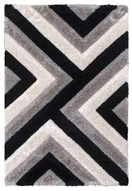 luxus cascade gy rug grey black cream
