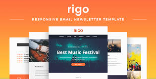 Music Newsletter Templates Rigo Responsive Email Newsletter Template By Maestomail Themeforest