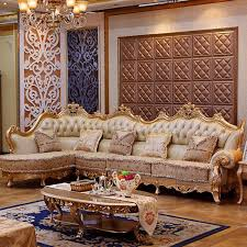 gold living room furniture. luxury leather sofa living room wood carving and gold corner furniturein sofas from furniture on aliexpresscom alibaba i