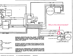 i m rewiring a mf 165 and came across something odd on the electrical diagram there is a wire going from the voltage regulator to the alternator that