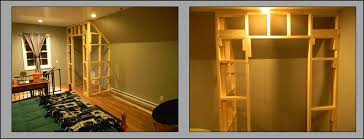 How to frame a closet Existing Picture Of Build Your Frame And Hang Drywall Instructables Closets With Sliding Barnstyle Doors Steps with Pictures
