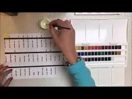Colour Chart Cotman Water Colours Winsor Newton