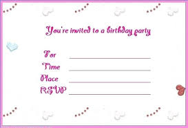 Samples Of Birthday Invitation Cards Birthday Party Invitations Free