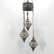 turkish moroccan tiffany hanging glass mosaic chandelier lamp light uk er