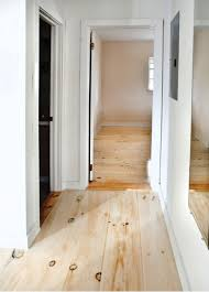 bright and white these pine floors are easy to clean and