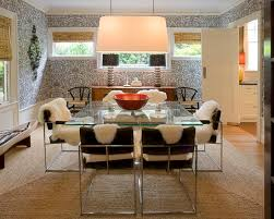extraordinary fur area rug at home cool modern dining room glass rectangular dining table with