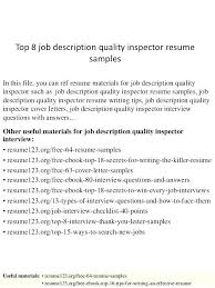 Quality Control Inspector Resume Example Ndtech Xyz
