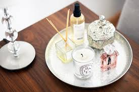 Decorative Trays For Bedroom Place perfume and candles on a silver tray to rotate them Home 22