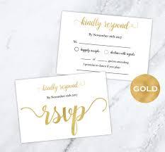 Gold Foil Wedding Rsvp Cards Gold Wedding Wedding Rsvp Postcards