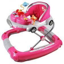 Grace Baby Car Themed 2-in-1 Baby Walker & Rocker Pink
