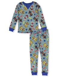 Cuddl Duds Boys Paw Patrol 2 Piece Thermal Long Underwear Set