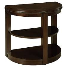 Round Chairside Table Standard Furniture Spencer Half Round Wood Chair Side Table End
