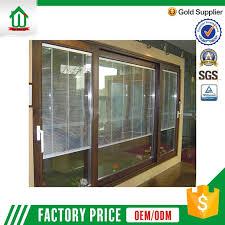horizontal balcony sliding pvc door with tempered glass