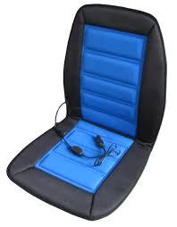 abn heated car seat cushion heating 12 volt blue black chair cover pad
