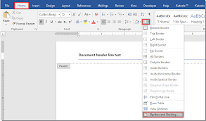 Ms Word Header How To Remove Header Line In Word Document
