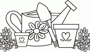 Small Picture Gardening coloring pages to download and print for free