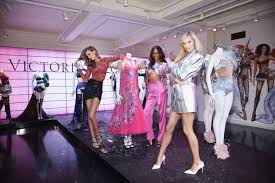from left josephine skriver jasmine tookes and elsa hosk at the vip runway experience in new york city the victoria s secret fashion show airs dec